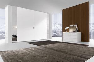 Time 3 Kleiderschrank stark koplanar, Design Kleiderschrank mit Koplanar Türen im wesentlichen Stil