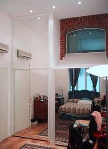 Unter Dach Kleiderschrank, Kundenspezifische Schränke mit Spiegeltüren