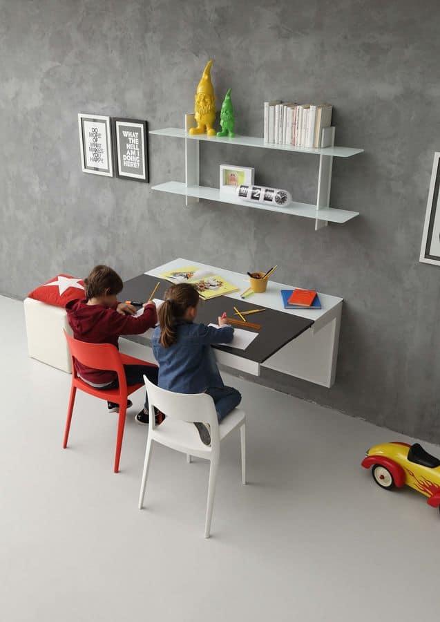 moderne schreibtisch f r kinderzimmer mit. Black Bedroom Furniture Sets. Home Design Ideas