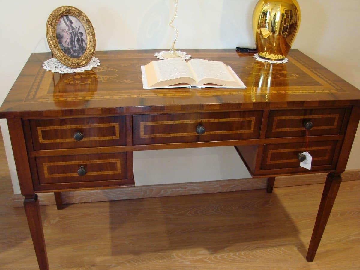 klassischen luxus schreibtisch mit 5 schubladen f r. Black Bedroom Furniture Sets. Home Design Ideas