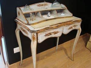 Art. 821, Klassische Walnuss Schreibtisch für zu Hause, mit Intarsien