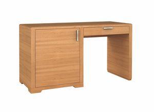 Eleganza Schreibtisch/Minibar LX, Schreibtisch für Hotel, mit Kühlschrank-Bar-Einheit