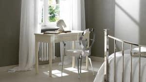 Leon Schreibtisch, Massivholztisch, mit Pinsel von Hand bemalt