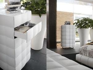 VENICE NOTTE dresser, Sechs Schubladen Kommode, lackiert, für Schlafzimmer