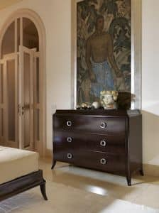 Art. VL720, Kommode aus Holz für Schlafzimmer