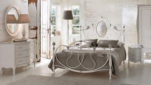 Enrico Kommode, Massivholz-Kommode, Intarsien, für Schlafzimmer