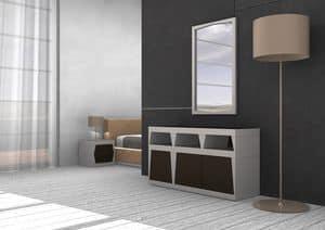 Light, Dresser aus lackiertem Laminat, verschiedenen Größen und Farben