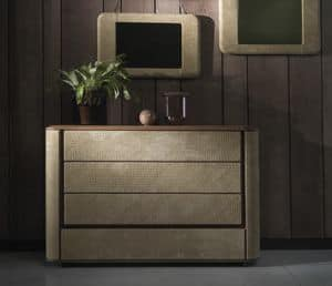 kommode mit schubladen mit push pull system ge ffnet idfdesign. Black Bedroom Furniture Sets. Home Design Ideas