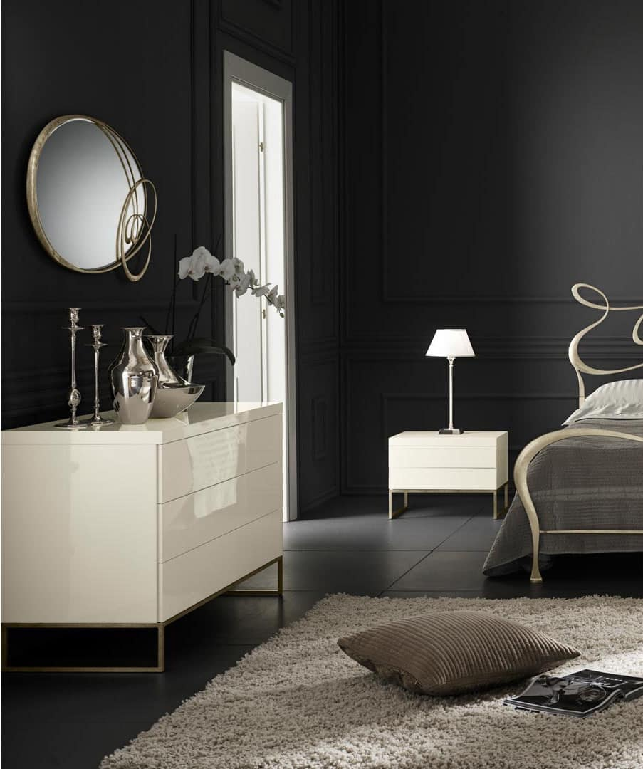 moderne kommode mit metallf en holzrahmen idfdesign. Black Bedroom Furniture Sets. Home Design Ideas