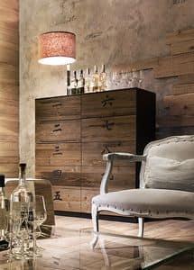 XIAN wood, Schrank mit 10 Schubladen, in Holz, in der chinesischen Art