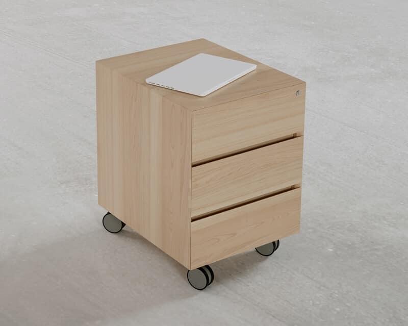 kommode auf r dern f r einen schreibtisch f r das b ro idfdesign. Black Bedroom Furniture Sets. Home Design Ideas
