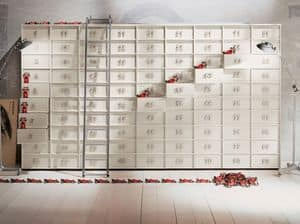 TOOLBOX comp.05, Modulare Container mit Schubladen für Haus und Büro