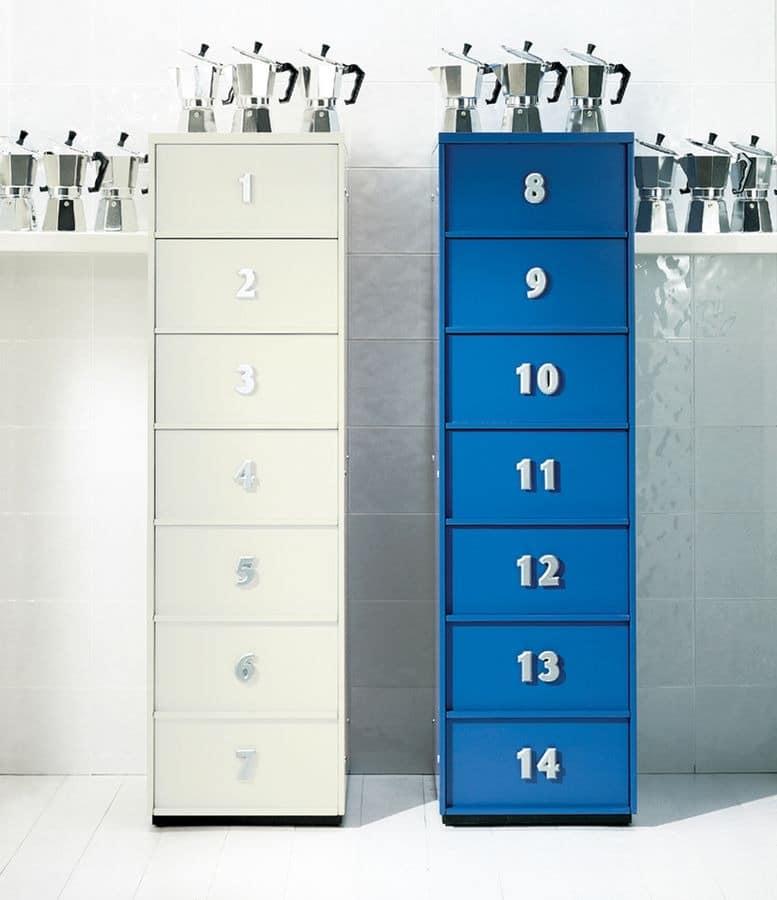 Moderne Büromöbel Für Zuhause ~ TOOLBOX comp07, Moderne tallboy für zu Hause, mit Schubladen