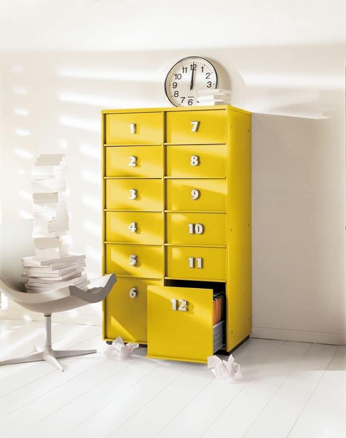 Gelbe kommode f r heim und b ro idfdesign for Schreibtisch yellow