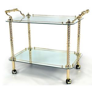 824, Trolley für Esszimmer, in Gold oder Silber