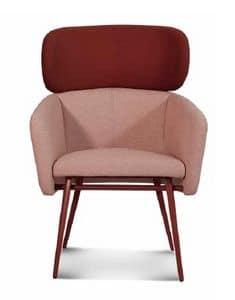 ART. BALÙ XL Met, Sessel mit Metallsockel, für Wartebereiche