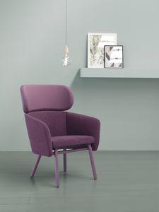 ART. 0051 BALÙ XL, Sessel aus Holz, in verschiedenen Farben bedeckt