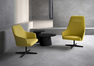 Axel 100L_4X/FU, Lounge Sessel mit hoher Rückenlehne