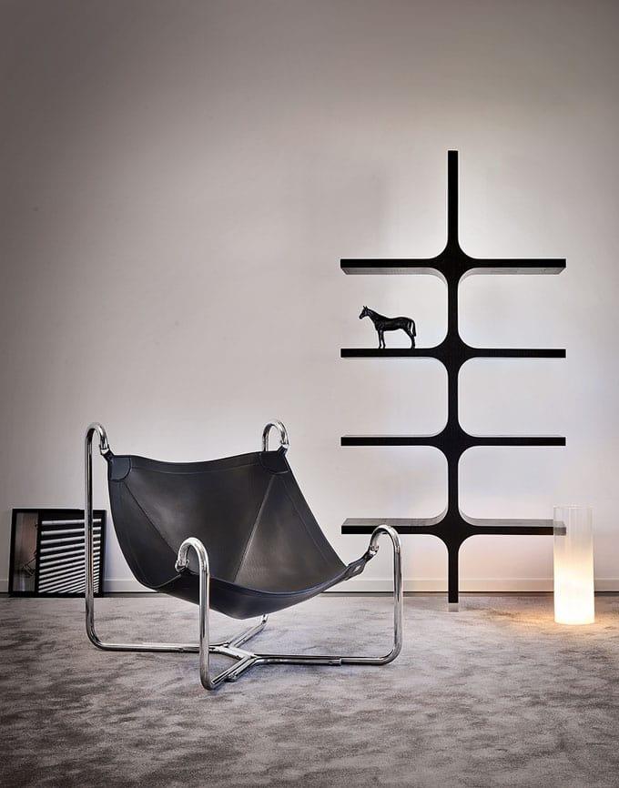 Design Sessel Aus Leder Und Metall Idfdesign