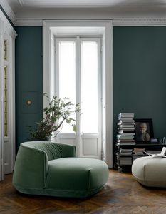Brioni armchair, Indoor-Sessel mit weicher Polsterung