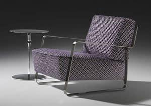 Fujiyama armchair, Sessel mit Stahlgestell, kundenspezifische Beschichtung