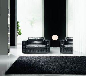 Gordon Plus Sessel, Eleganter Sessel mit rautenförmigen Verzierungen