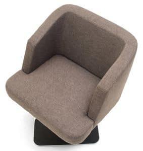 Vendome poltrona, Gepolsterten Sessel mit Metallgestell, verschiedene Ausführungen