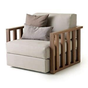Dorsoduro Sessel, Modernes Design Sessel aus Massivholz, für Wohnzimmer