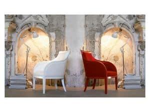 Mi/ami, Sessel aus Massivholz, gepolsterter Sitz und Rückenlehne
