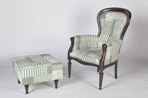 Art. 588, Klassische Hocker aus Baumwolle bedeckt, in verschiedenen Farben