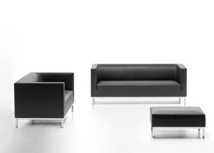 Argo 02, Eleganten Sofa in Kunstleder, für Wartezimmer