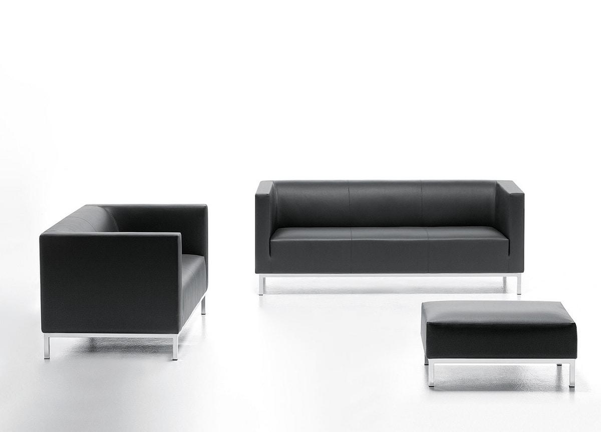 Argo 02 03, Eleganten Sofa in Kunstleder, für Wartezimmer