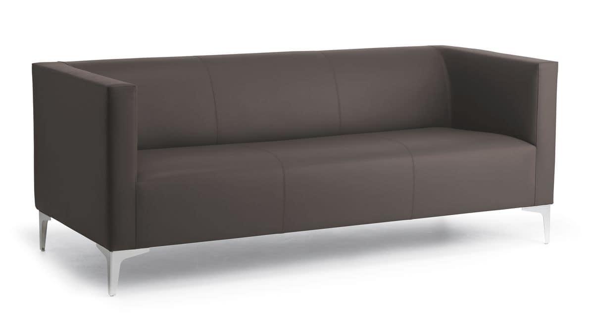 3er sofa f r b ro und warteraum stahlf e idfdesign Sofa quadratisch
