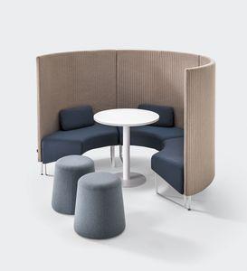 BASE, Schalldämpfendes modulares System für Konversationsbereiche