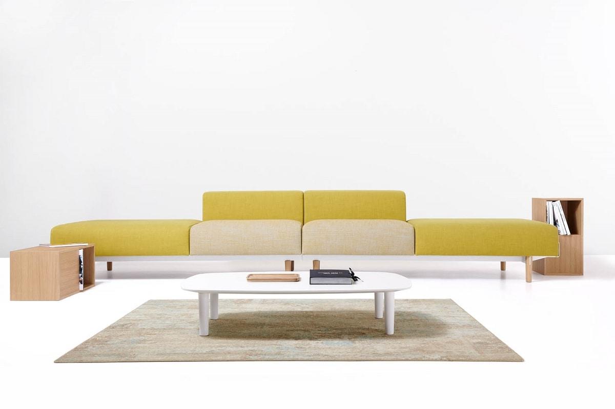 Bread Zusammensetzungen, Linear Sofa, modular, für Wartezonen und Büros