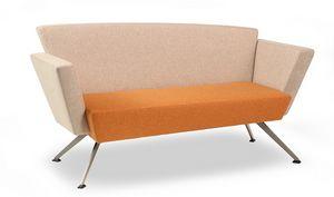 C2DB, Büro Sofa, quadratisch, gepolstert, mit Metallbeinen