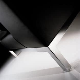 CUBE, Linear 2-Sitzer-Sofa mit Metallfüßen, für Büros