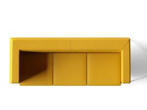 DEXTER, 3-Sitzer-Sofa mit verchromten Füßen