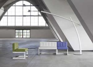 DISEGUALE DI2 DI3, Linear gepolsterten Sofa, gesteppt, für Wartezimmer