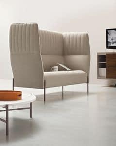 Dolly, Sofa mit hoher Rückenlehne, für akustische Privatsphäre
