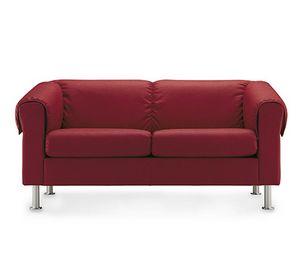 Dream 802, Zweisitzer-Sofa mit Füßen aus verchromtem Stahl