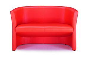 Duke 142, Sofa für Wartebereiche, mit Leder bezogen