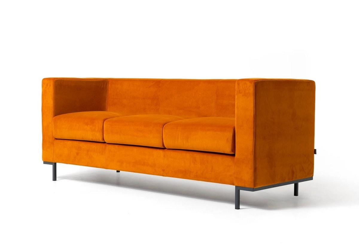 Sofa für moderne lounges bereiche mit aluminiumfüßen idfdesign
