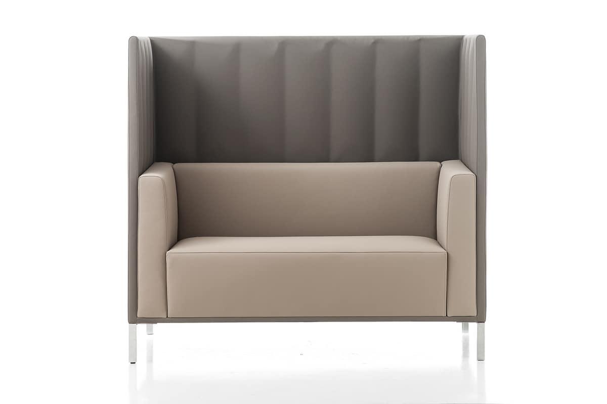 Sofa Mit Hoher Ruckenlehne Fur Besprechungsbereiche Idfdesign