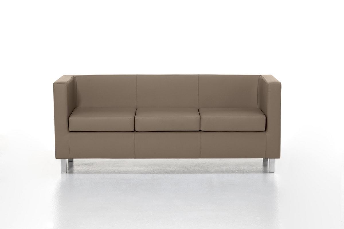 Kubo 02 03, Sober gepolsterten Sofa für zentrale e Wartezimmer