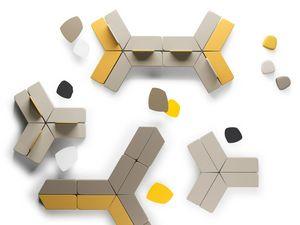 MANTRA, Modulares Sitzkissen für Warteräume und Lounges