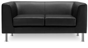 Max 2P 3P, Büro- und Empfangs-Sofa mit 2 oder 3 Sitzen