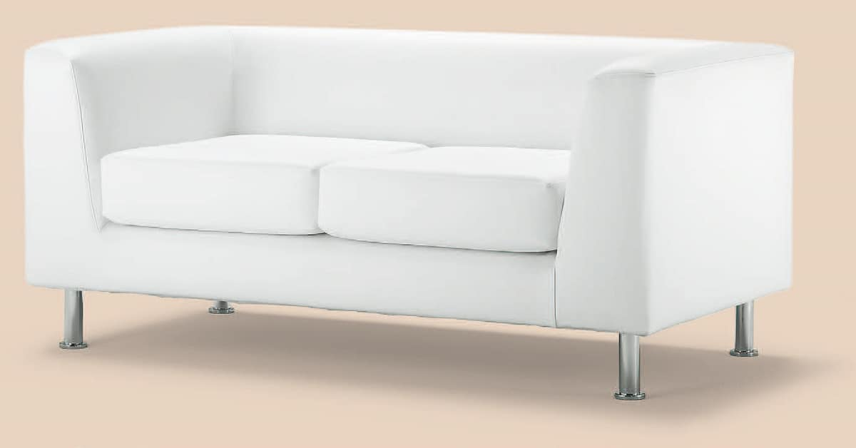PL VEGA 2P, 2-Sitzer-Sofa aus Kunstleder, für Büro- und Bank