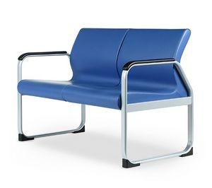 SEDOFF ONE 402 A, Sofa mit Metallfuß, ideal für Wartezimmer