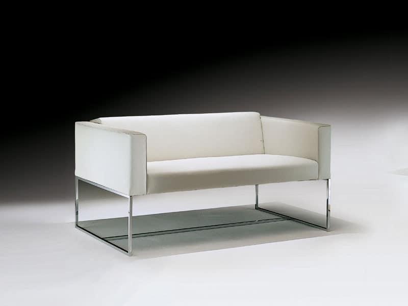 Sofa mit Vierkantrohr aus Stahl für Wartezimmer